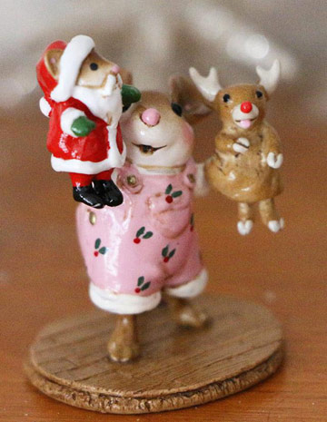 The Santa And Rudy Show! Girl M-657a by Wee Forest Folk