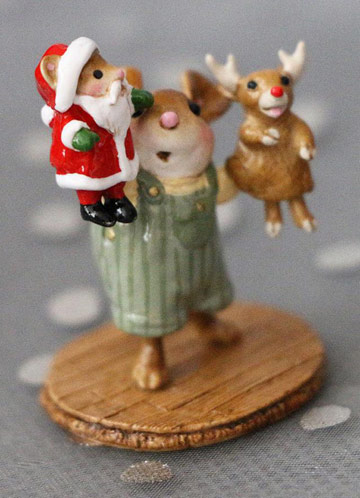 The Santa And Rudy Show! Boy M-657b by Wee Forest Folk