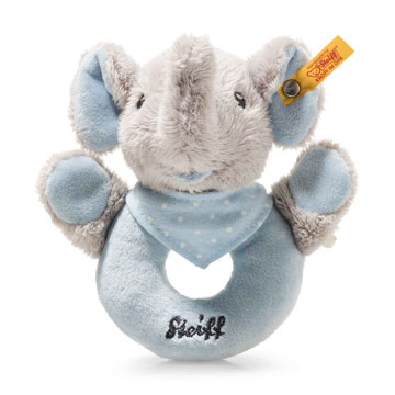 Trampili Elephant Grip Toy With Rattle, Blue And Gray EAN 241710