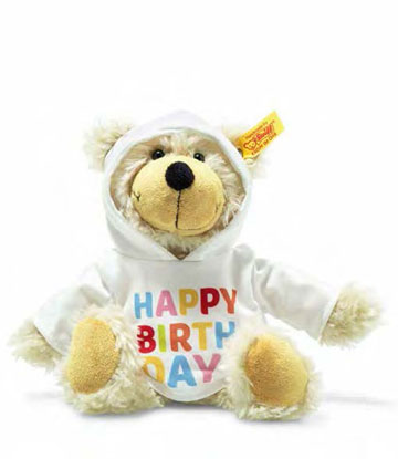Happy Birthday Charly, Dangling Teddy Bear With Hoody EAN 012310