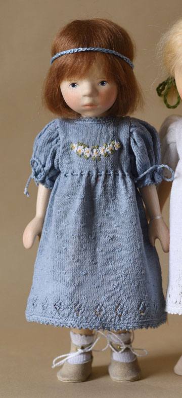 Brunette In Blue Knit Dress DJ112