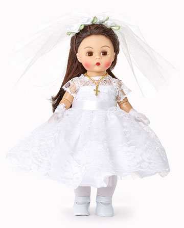 First Communion Blessings Brunette Medium Skin Tone 75097