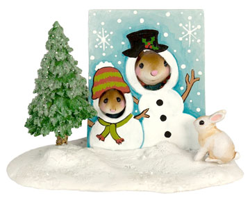 Snowman Smiles M-397c by Wee Forest Folk