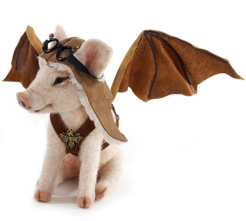 Steampunk Flying Pig by Stevi T's Alpaca Encounters