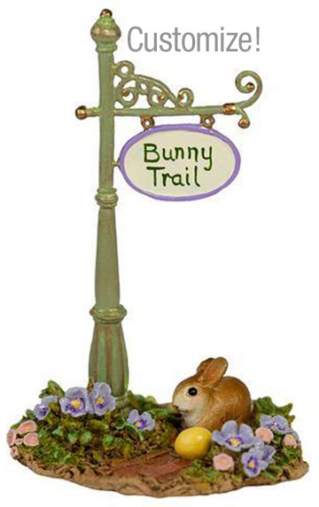 Custom Bunny Trail Sign Post A-49cCUS