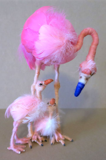 Double The Fun, Mom Flamingo with Twins