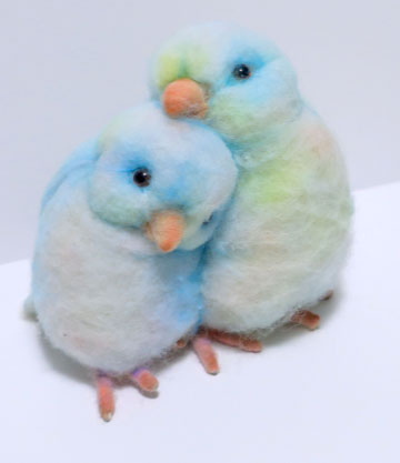 True Blue Lovebirds