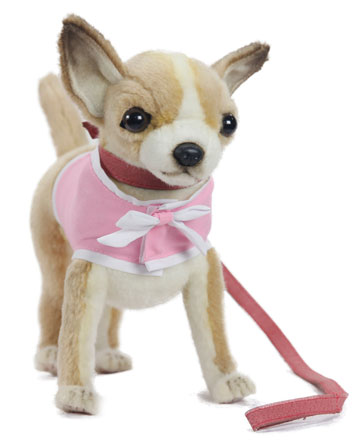 Chihuahua With Pink Coat And Leash 6385