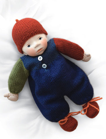 Baby In Blue And Rust Multicolor Knit B046