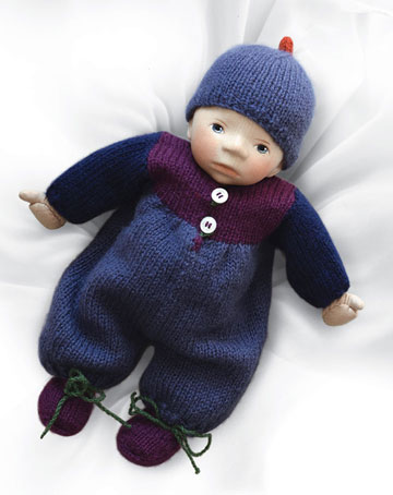 Baby in Purple And Blue Multicolor Knit B049