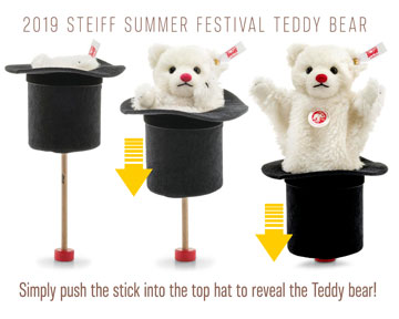 2019 Summer Festival Bear With Top Hat EAN 674976 by Steiff