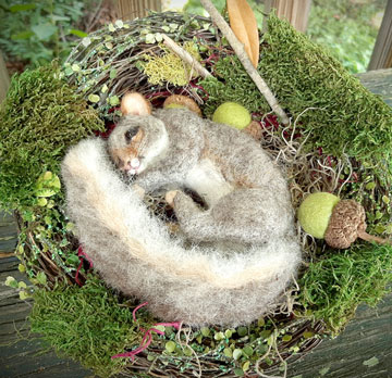Fall Nesting Squirrel