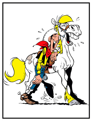 Jolly Jumper, Lucky Luke Series EAN 674730 by Steiff