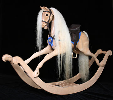 Maple Horse on English Bow Rockers