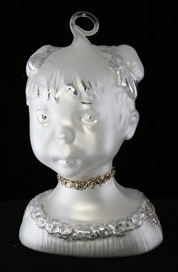 Zwergnase Doll Head Ornament White