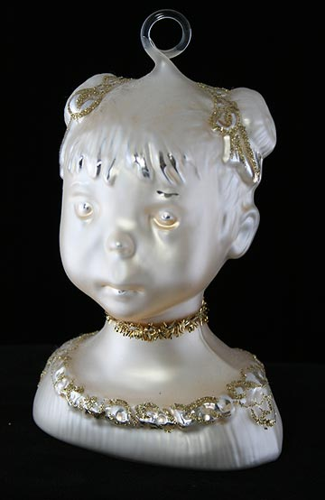 Zwergnase Doll Head Ornament Gold