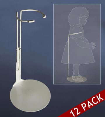 11.5 to 12.5 Inch Doll Stand 12pk