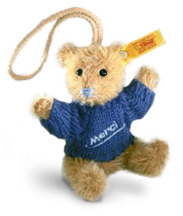 Merci Teddy Pendant Bear EAN 028243 by Steiff