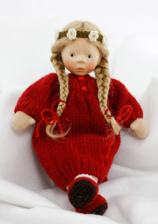 August Girl In Red Knit Dress, Soft Body L030 by Elisabeth Pongratz