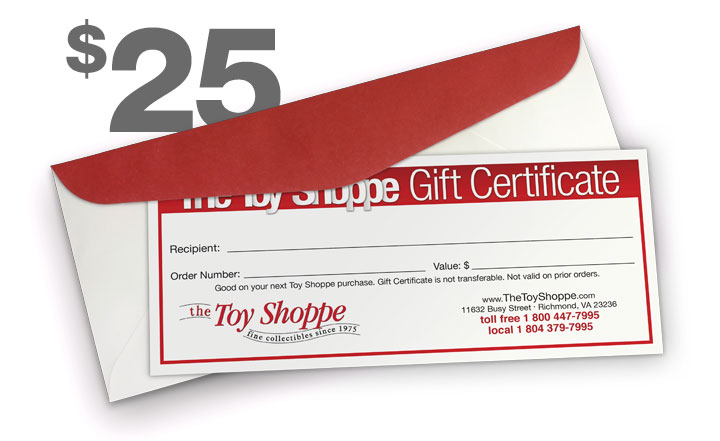 $25 Gift Certificate by The Toy Shoppe
