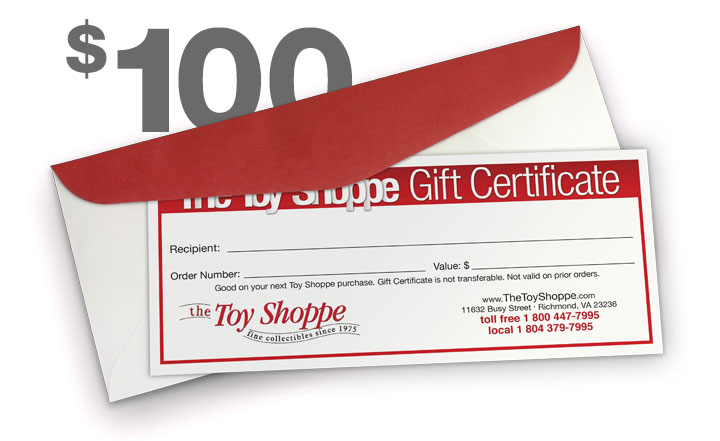 $100 Gift Certificate by The Toy Shoppe