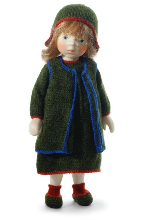 Girl In Dark Green Knit H257 by Elisabeth Pongratz