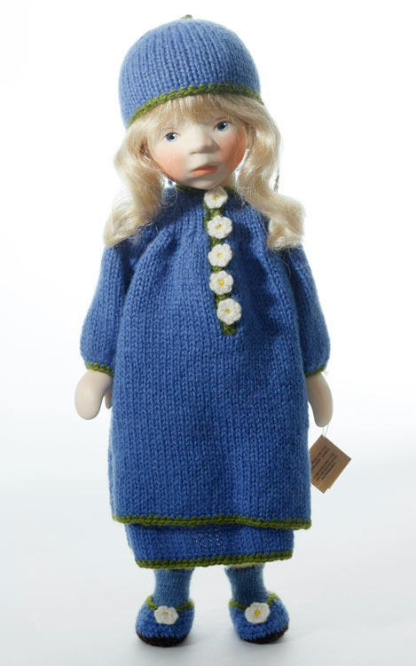 Blond In Blue Knit H292 by Elisabeth Pongratz