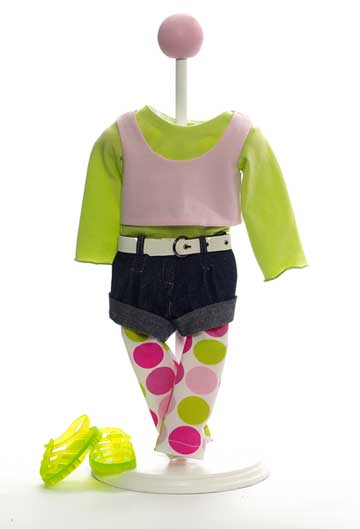 Denim 'N Dots Playdoll Outfit 61990 by Madame Alexander