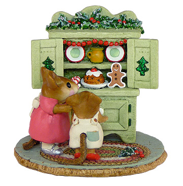 Christmas Cupboard Green M-241 by Wee Forest Folk