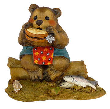 Lunch On A Log Teal BB-3 by Wee Forest Folk