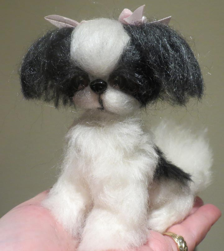 Shih Tzu Black And White Long Hair By Designs By Karen At The Toy Shoppe