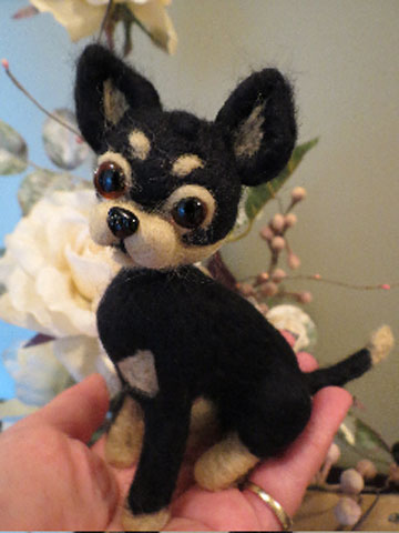 Chihuahua Black And Tan Short Coat By Designs By Karen At