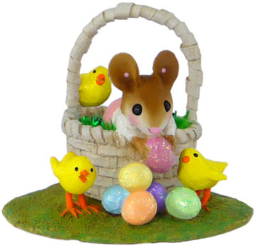 Easter Basket Bounty Girl M-504a by Wee Forest Folk
