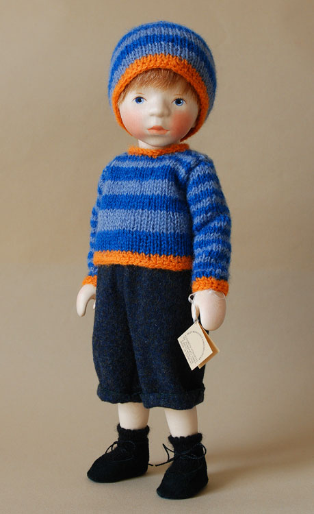 Boy In Striped Knit Sweater H336 by Elisabeth Pongratz