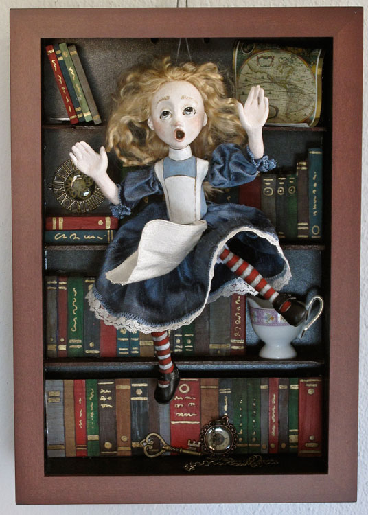 aad54eee3cb Alice Falling Down The Rabbit Hole by Lucia Friedericy, Friedericy ...