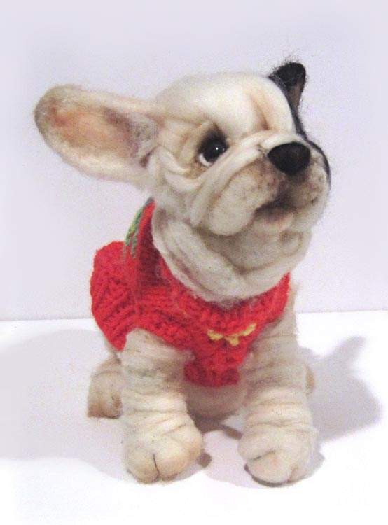 christmas sweater french bulldog