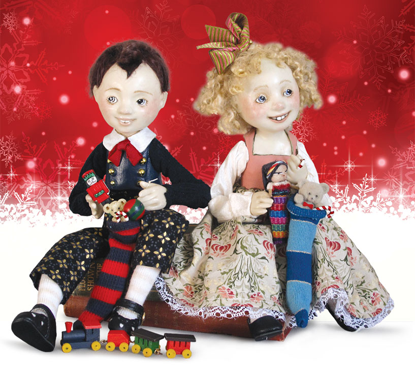 Christmas Stockings by Lucia Friedericy, Friedericy Dolls