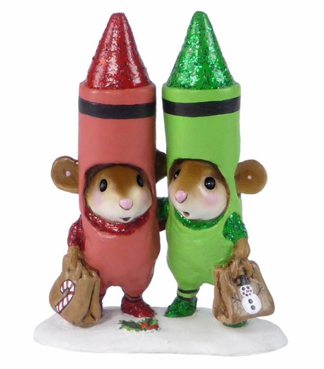 Christmas Crayons M-533a by Wee Forest Folk