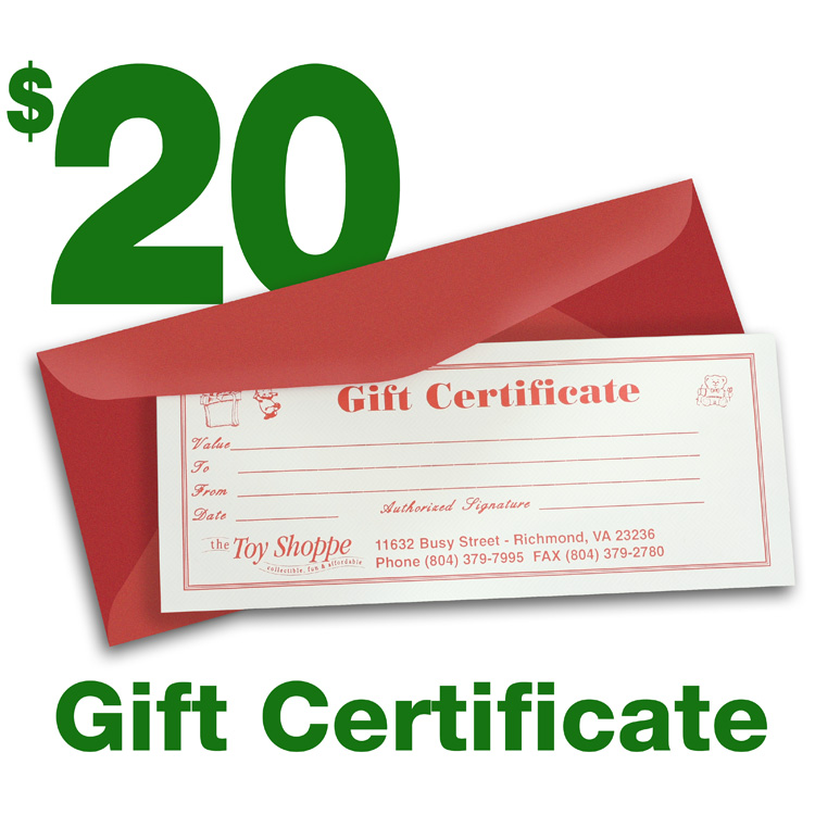 $20 Gift Certificate by The Toy Shoppe