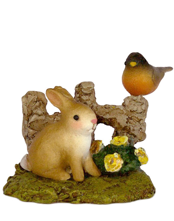 Spring Bunny And Robin A-37 by Wee Forest Folk