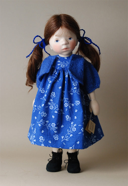 Girl In Blue Floral Print And Bolero H347 by Elisabeth Pongratz