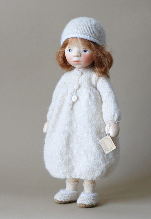 Girl In White Knit H344 by Elisabeth Pongratz