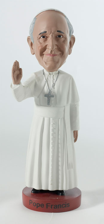Pope Francis Bobblehead By Royal Bobbles At The Toy Shoppe
