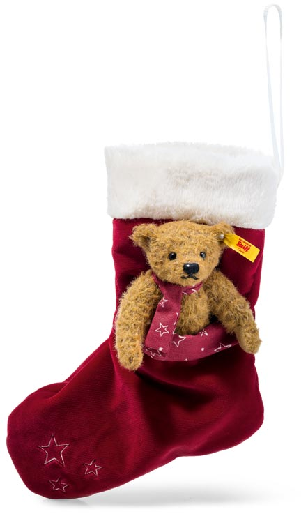 Teddy With Christmas Stocking EAN 026751 by Steiff