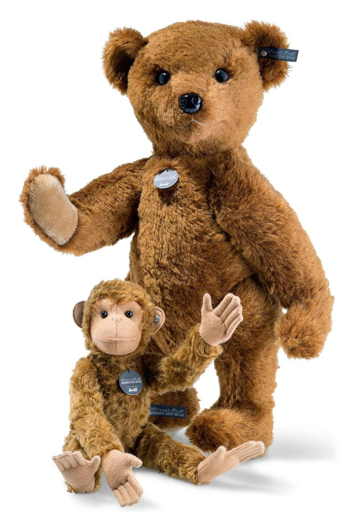 Richard Teddy Bear and Affe Monkey EAN 421433 by Steiff