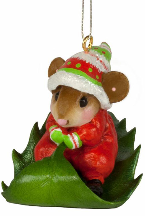 Holly Express Ornament M-629a by Wee Forest Folk