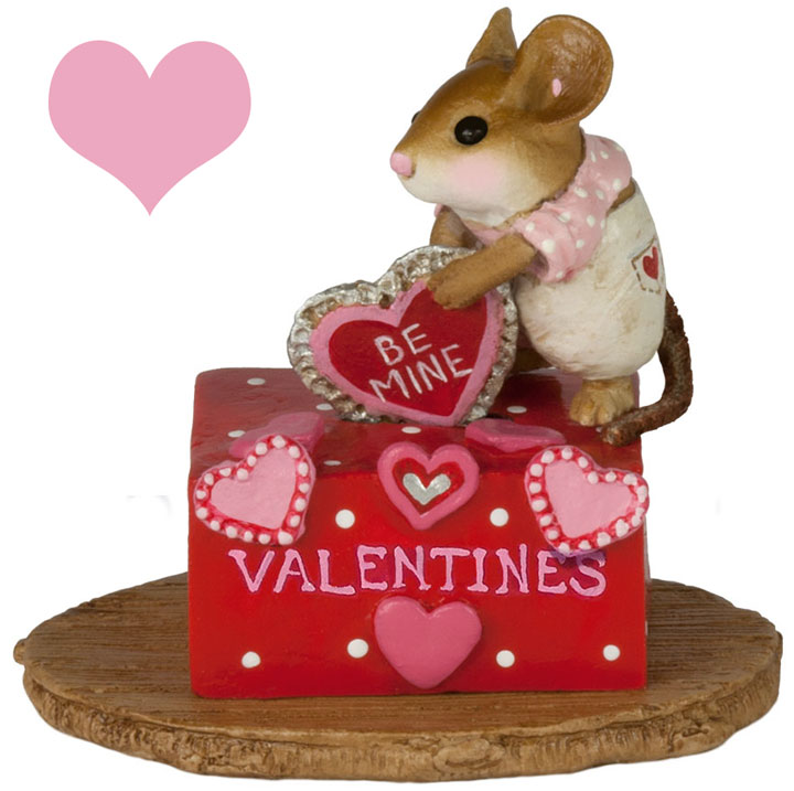 Her Secret Valentine Box M-189c by Wee Forest Folk