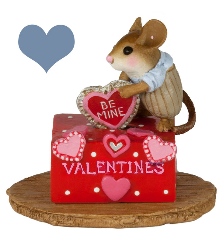 His Secret Valentine Box M-189d by Wee Forest Folk
