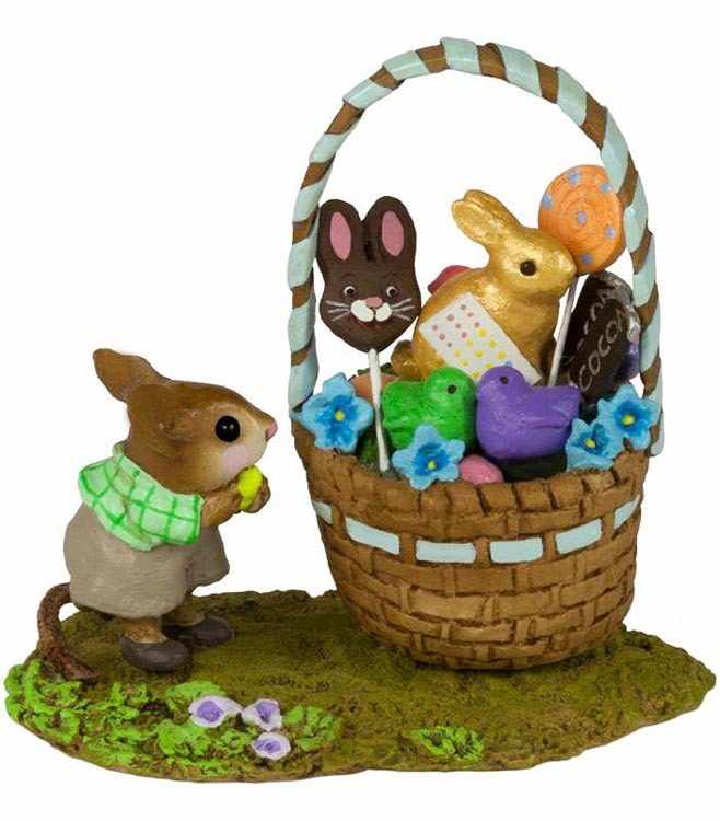 His Easter Goodie Basket M-523b by Wee Forest Folk