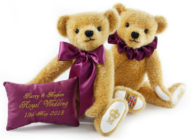 Harry And Meghan 2018 Royal Wedding Teddy Bears by Merrythought